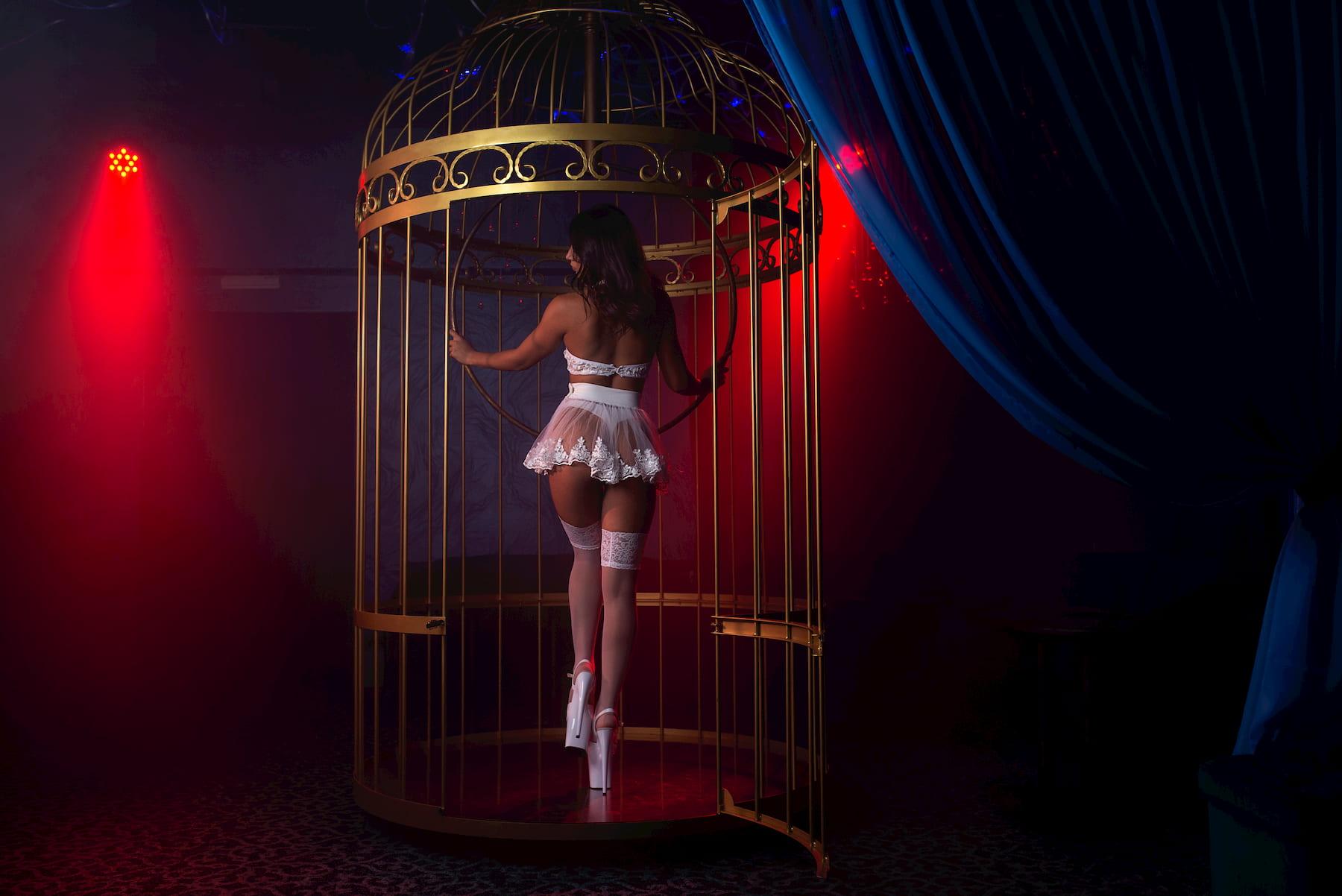 Pole dance in strip club